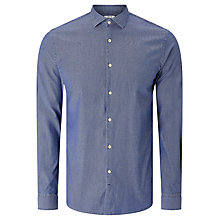 Buy J. Lindeberg Daniel Long Sleeve Cotton Shirt, Chambray Online at johnlewis.com