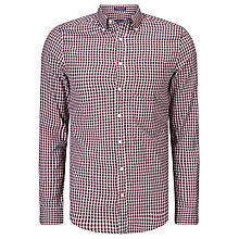 Buy Gant Windblown Oxford Shirt, Mahogany Red Online at johnlewis.com