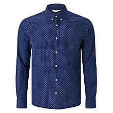 Buy J. Lindeberg Daniel Spot Print Long Sleeve Slim Fit Shirt, Indigo Online at johnlewis.com