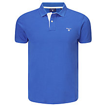 Buy Gant Contrast Collar Pique Polo Shirt, Nautical Blue Online at johnlewis.com