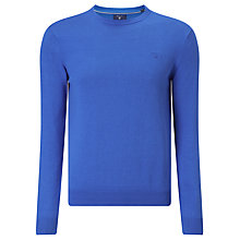 Buy Gant Lightweight Cotton Crew Neck Jumper, Nautical Blue Online at johnlewis.com