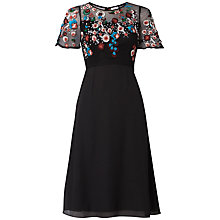 Buy Raishma Autumn Floral Dress, Black Online at johnlewis.com