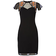 Buy Raishma Floral Cap Sleeve Dress, Black Online at johnlewis.com