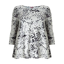 Buy Phase Eight Blurred Print Top, Grey/Ivory Online at johnlewis.com