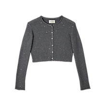Buy Precis Petite Jeff Banks Cropped Cardigan, Grey Online at johnlewis.com