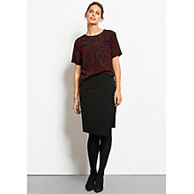 Buy hush Natalie Animal Print Top, Burgundy Online at johnlewis.com