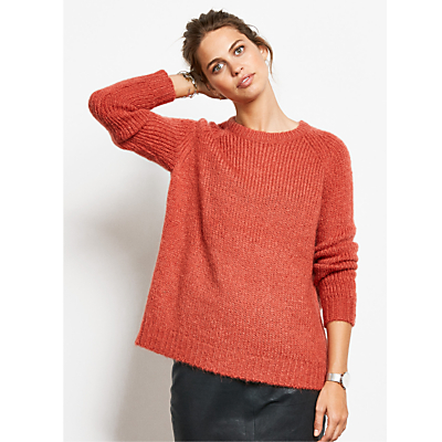 hush Bubble Knit Jumper, Dusty Cedar