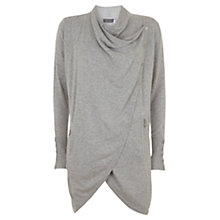 Buy Mint Velvet Longline Draped Cardigan, Grey Online at johnlewis.com