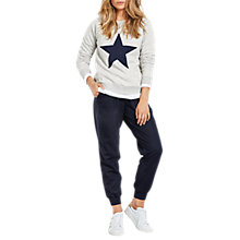 Buy hush Star Biker Sweat Top, Lightest Grey Marl/Midnight Online at johnlewis.com
