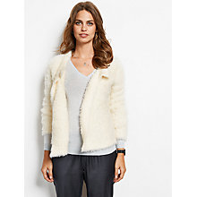 Buy hush Cropped Teddy Cardigan, Ecru Online at johnlewis.com