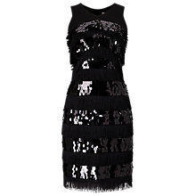 Buy Phase Eight Becca May Sequin Dress, Black Online at johnlewis.com
