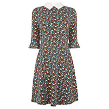 Buy Oasis Daisy Kick Sleeve Skater Dress, Multi Online at johnlewis.com