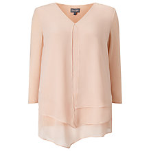 Buy Phase Eight Lenia Layered Top, Blush Online at johnlewis.com