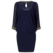 Buy Phase Eight Emily Embellished Cut Neck Blouson Dress, Navy Online at johnlewis.com