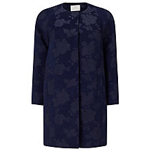 Buy Jacques Vert Petite Jacquard Coat, Navy Online at johnlewis.com