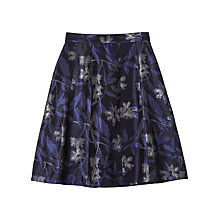 Buy Precis Petite by Jeff Banks Metallic Floral Jacquard Skirt, Black/Multi Online at johnlewis.com