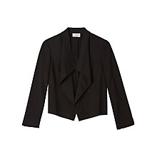 Buy Precis Petite Jeff Banks Waterfall Jacket, Black Online at johnlewis.com