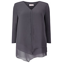 Buy Phase Eight Lenia Layered Top, Grey Online at johnlewis.com