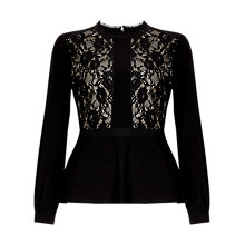 Buy Phase Eight Victoriana Blouse, Black Online at johnlewis.com