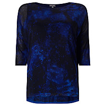 Buy Phase Eight Violetta Print Knitted Top, Cobalt/Black Online at johnlewis.com