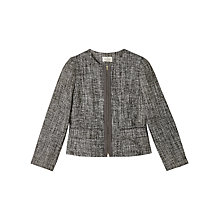 Buy Precis Petite Jeff Banks Tweed Jacket, Grey Online at johnlewis.com