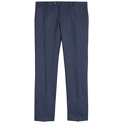 Image of Jaeger Salt-and-Pepper Slim Trousers, Navy