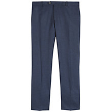 Buy Jaeger Salt-and-Pepper Slim Trousers, Navy Online at johnlewis.com
