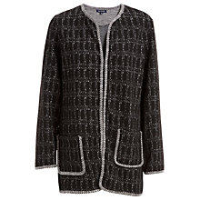Buy Max Studio Long Jacquard Jacket, Black/White Online at johnlewis.com
