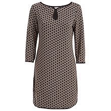 Buy Max Studio Jacquard Dress, Black/Ecru Online at johnlewis.com