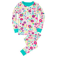 Buy Hatley Children's Wallpaper Flowers Pyjamas, Neutral/Pink Online at johnlewis.com