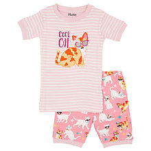 Buy Hatley Children's Cool Cats Shortie Pyjamas, Pink Online at johnlewis.com