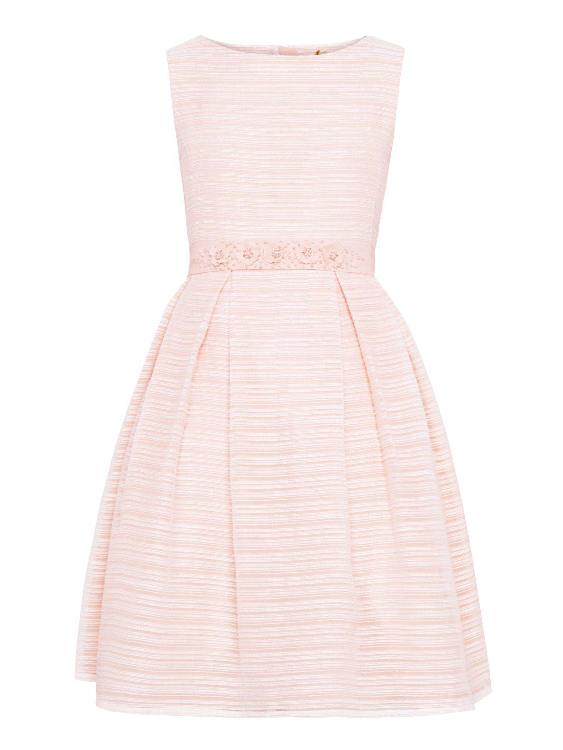 John Lewis Heirloom Collection John Lewis Heirloom Collection Girls' Organza Stripe Dress, Pink