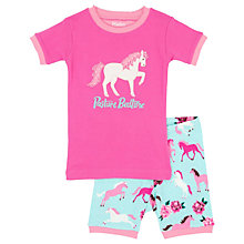 Buy Hatley Children's Ponies and Peonies Shortie Pyjamas, Blue/Pink Online at johnlewis.com