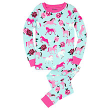 Buy Hatley Children's Ponies and Peonies Pyjamas, Blue Online at johnlewis.com