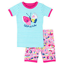 Buy Hatley Children's Pretty Butterfly Shortie Pyjamas, Blue/Pink Online at johnlewis.com