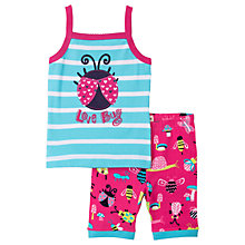 Buy Hatley Children's Cute Bugs Shortie Pyjamas, Blue/Pink Online at johnlewis.com