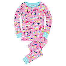 Buy Hatley Children's Pretty Butterflies Pyjamas, Pink Online at johnlewis.com