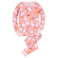 Buy Hatley Children's Cool Cats Pyjamas, Pink Online at johnlewis.com