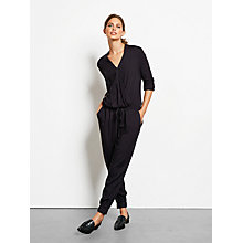 Buy hush Emma Jumpsuit, Black Online at johnlewis.com
