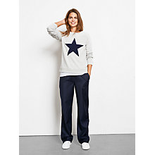 Buy hush Mila Trousers, Navy/White Stripe Online at johnlewis.com
