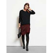 Buy hush Francesca Skirt, Burgundy Animal Print Online at johnlewis.com