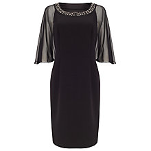 Buy Jacques Vert Jewelled Neck Dress, Black Online at johnlewis.com