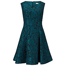 Buy Jacques Vert Petite Jacquard Prom Dress, Dark Blue Online at johnlewis.com