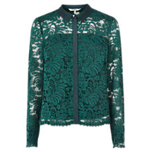 Buy Coast Lavina Lace Shirt, Forest Online at johnlewis.com