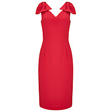 Buy Jacques Vert Bow Detail Dress, Mid Red Online at johnlewis.com