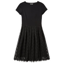 Buy Precis Petite Jeff Banks Lace Skirt Dress, Black Online at johnlewis.com