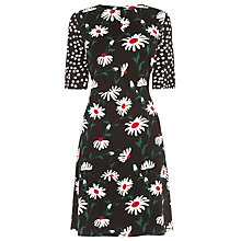 Buy Warehouse Pop Daisy Spot Mix Dress, Multi Online at johnlewis.com