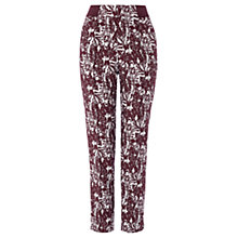 Buy Coast Sawyer Jacquard Trousers, Merlot Online at johnlewis.com