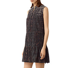 Buy AllSaints Lin Sinai Dress, Taupe Online at johnlewis.com