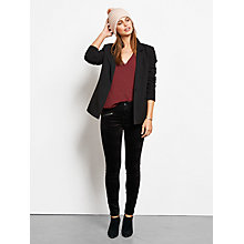 Buy hush Velour Skinny Trousers, Black Online at johnlewis.com